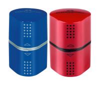 Точилка Faber-Castell 183801 grip2001 на 3 отверстия красный/синий