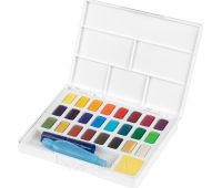 Акварельные краски Faber Castell 24 цвета + кисточка с резервуаром 169724