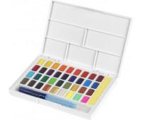 Акварельные краски Faber Castell 36 цвета + кисточка с резервуаром 169736