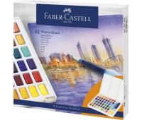 Акварельные краски Faber Castell 48 цвета + кисточка с резервуаром 169748