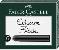 Патроны Faber-Castell 185507  ЧЕРНЫЕ стандарт 6 шт