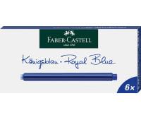 Патроны Faber-Castell 185524 СИНИЕ длинные 6 шт