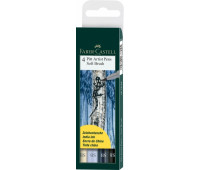 Капиллярная ручка-кисточка Набор PITT Faber-Castell artist pen SB 4 цвета - 167804