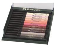 Капиллярная ручка-кисточка Faber-Castell PITT в наборе 12 шт телесные цвета - 267424