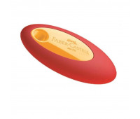 Ластик Faber-Castell 1823300 Ластик цветной овальный виниловый с пластиковым держателем