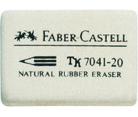 Ластик Faber-Castell 184120 7041-20 белый д/карандаша