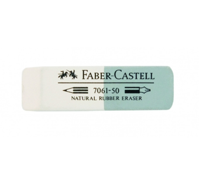 Ластик Faber-Castell 186150 7061-50 бело-серый