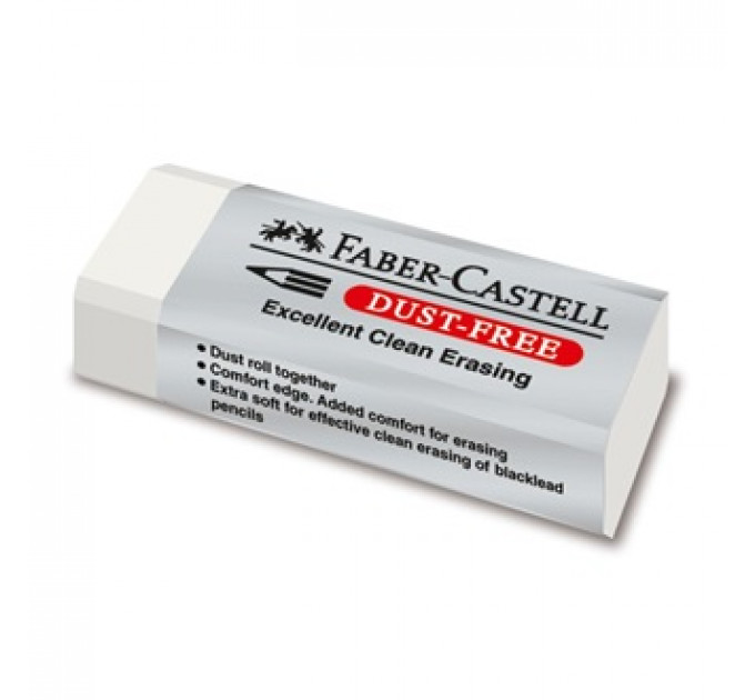 Ластик Faber-Castell 187120 dust-free белый винил