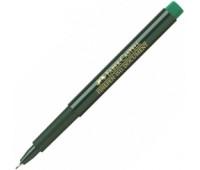 Линер Faber-Castell fine pen зеленый - 151163