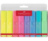 Маркеры набор Faber-Castell Textliner Pastel 7 + 1 желтый 154681