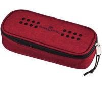 Пенал Faber-Castell на молнии 1 отделение красный 573022