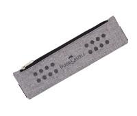 Пенал Faber-Castell тканевый серый с резинкой для тетради 55х215 мм. 573135