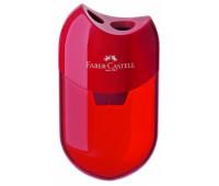Точилка Faber-Castell, kosmo двойная черная с контейнером 183500