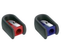 Точилка Faber-Castell, soft каучук одинарная синяя, красная - 184801