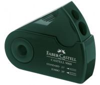 Точилка Faber-Castell, sleeve Castell 9000 темно-зеленая c контейнером в чехле 582800