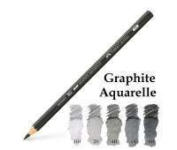 Акварельный чернографитный карандаш Faber-Castell Graphite Aquarelle черный 2B - 117802