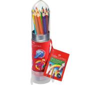 """Акварельные карандаши Faber-Castell Grip 15 цветов """"Rocket"""" - 112457"""