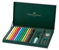 Акварельные карандаши Faber-Castell 216910 Magnus ad 12 цв + аксессуары в картон.коробке