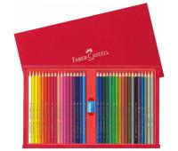 Карандаши цветные Faber-Castell 36 цв + точилка деревянная коробка - 115837