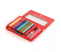 Карандаши цветные Faber-Castell 48 цв CLASSIC метал коробка + аксессуары - 115888