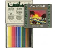 Набор цветных карандашей Faber-Castell Polychromos 24 цвета к 111-летию 211002