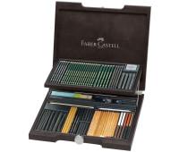 Набор Faber-Castell Pitt monochrome, 86 предметов в деревянной коробке - 112971