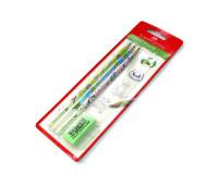 Графитный карандаш в наборе Faber-Castell 118364 3 шт. и + ластик Motif