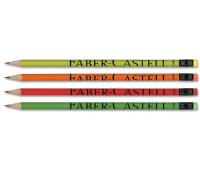 Графитный карандаш Faber-Castell 112700 HB с ластиком неоновый корпус