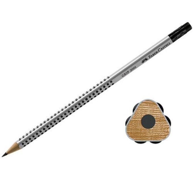 Графитный карандаш Faber-Castell 117200 Grip 2001 HB с ластиком