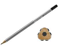 Графитный карандаш Faber-Castell 117201 Grip 2001 B с ластиком
