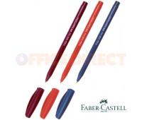 Faber-Castell шариковая ручка trilux красная 0.7 мм трехгранная - 030-f