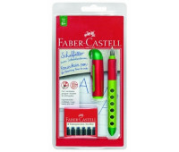 Ручка-перо Faber SCRIBOLINO перо для левшей + 6 картриджей ассорти - 149803