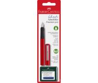 Ручка-перо Faber SCRIBOLINO + 6 картриджей корпус красный 149812