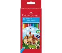 Карандаши цветные Faber-Castell 12 цветов + точилка