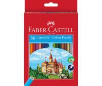 Карандаши цветные Faber-Castell 36 цв картонная коробка - 120136