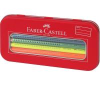 Карандаши цветные Faber-Castell 10 цв JUMBO Grip метал коробка + точилка - 110940