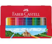 Карандаши цветные Faber-Castell 36 цв CLASSIC металлическая коробка - 115886