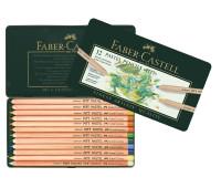 Пастельные карандаши Faber-Castell Pitt 12 цв металл. коробка 112112