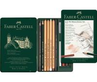 Набор Faber-Castell Pitt monochrome, 12 предметов - 112975