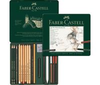 Набор графитный Faber-Castell Pitt monochrome, 21 предмет - 112976