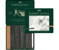 Набор угля Faber-Castell Pitt 24 предмета 112978