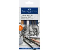 Угольный набор Faber-Castell Goldfaber для скетча 7 предметов - 114002