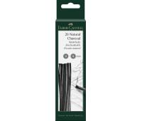 Натуральный древесный уголь Faber-Castell (3-6 mm) - 129198