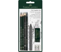Блистер графит Faber Castel Pitt, 7 предметов - 112997