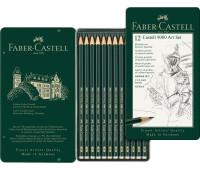 Набор графитных карандашей Faber-Castell 9000 12 шт 8В-2Н - 119065
