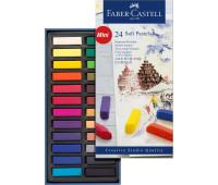 Пастель Faber-Castell 24 цв мягкая пастель 35мм Goldfaber 128224