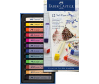 Пастель Faber-Castell 12 цв мягкая пастель 70мм Goldfaber 128312