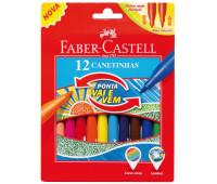 Фломастеры с убирающимся наконечником 12 цветов Faber-Castell 150112