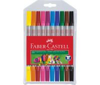 Фломастеры Faber-Castell 10 цв fibre-tip двухсторонние - 151110
