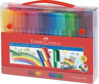 Фломастеры Faber-Castell 60 цв connector в пластиковом чемоданчике - 155560